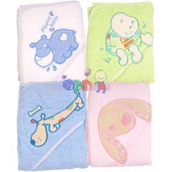 Okrycie kąpielowe z kaptrukiem BabyOno różne wzory...