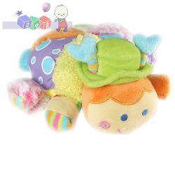 Kolorowa i miękka zabawka przytulanka z grzechotką Biedronka duża BabyOno...