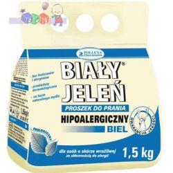 Ekologiczny i hipoalergiczny proszek do prania Biały Jeleń 1,5 kg - biel...