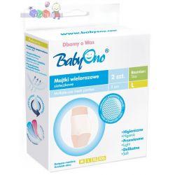 Wielorazowe majtki siateczkowe BabyOno - komfort i higiena po porodzie rozmiar L...