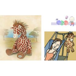Pluszowa pozytywka Śpiąca żyrafa do łóżeczek, wózków i fotelików - spokojny sen dziecka...