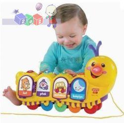 Grająca gąsienica uczy i bawi zabawki Fisher Price...