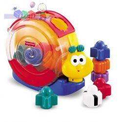 Ślimak smakosz klocków edukacyjna zabawka Fisher Price...