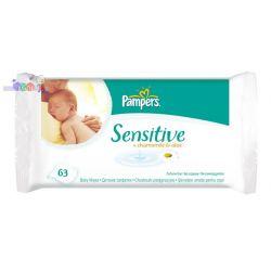 Chusteczki do pupy dla niemowląt i dzieci Pampers Sensitive...