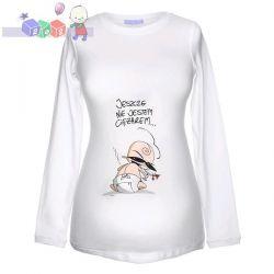 """Bluzka z długim rękawem dla kobiet w ciąży """"Nie jestem ciężarem""""..."""