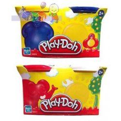 Play-Doh ciastolina 2 tuby klasyczne - biały i czerwony lub żóły i niebieski...