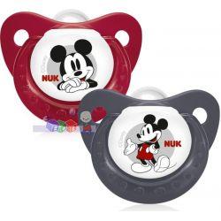 Silikonowy smoczek uspokajający dla niemowląt Nuk z Myszką Miki 0-6 m...