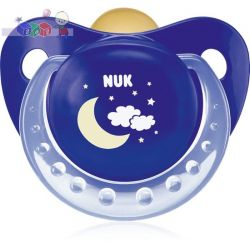 Lateksowy smoczek uspokajający Nuk Classic Night & Day - Noc rozmiar 1 (0-6m)...
