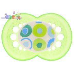 Smoczki z jedwabistego silikonu Circles 6+ Mam...