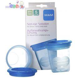 Plastikowe pojemniki na pokarm pojemność 120 ml 5 szt w opakowaniu...