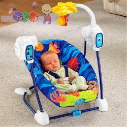 Mechaniczna huśtawka Cuda Oceanu Fisher Price dla niemowląt od urodzenia...