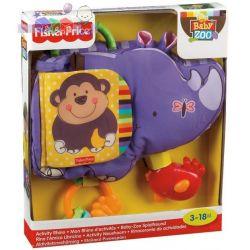 Wesoły hipopotam zawieszka do wózka z kolorową książeczką i gryzakami Fisher Price...