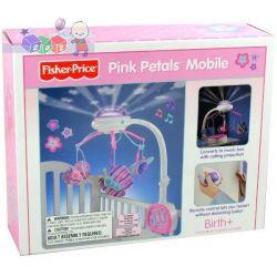 Karuzela do łóżeczka z pilotem i funkcją pozytywki Fisher Price Pink Petals Mobile...