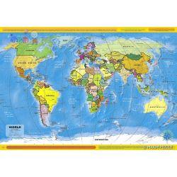 Edukacyjne puzzle Maxim 260 - mapa świata...