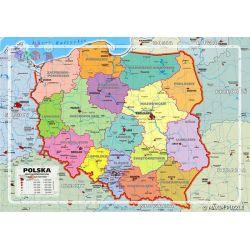 Edukacyjne puzzle Maxim 260 - mapa Polski...