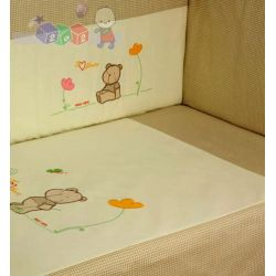 Dwuelementowa pościel dla dzieci i niemowląt haft Duet Baby...