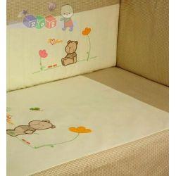 Trzyelementowa pościel dla dzieci haftowana Duet baby...