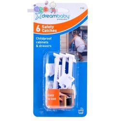 Solidne i łatwe w użyciu zatrzaski zabezpieczające do szafek i szuflad Dreambaby 6 szt....