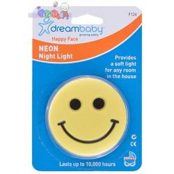 Neonowe światełko Dreambaby Szczęśliwa buźka - do 10000 godzin...