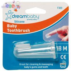 Silikonowa szczoteczka do zębów Dreambaby zakładana na palec...
