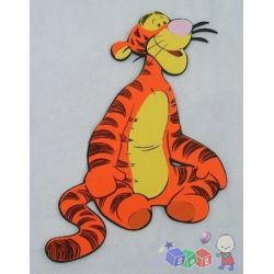 Siedzący tygrysek naklejki na ścianę...