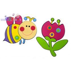 Dekoracje na ścianę  naklejki Pszczółka i kwiatek...
