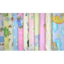 Kolorowe flanelowe pieluszki, flanela 70x80 cm...