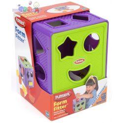 Playskool Form Fitter - kostka pełna kształtów - sorter Hasbro...