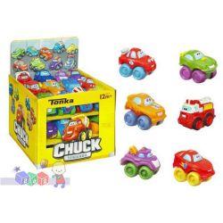 Uśmiechnięte mini samochodziki Tonka Chuck and Friends Hasbro...