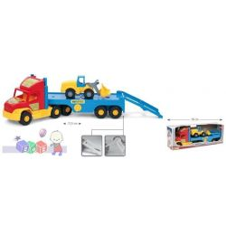 Duży truck laweta transportowa + mała ładowarka Wader 36520...