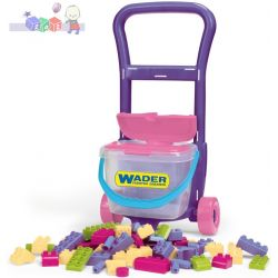 Wózek z klockami - zestaw dla małego budowniczego  Wader 10973...