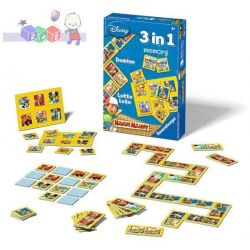 Super gra 3w1 Maniek Złota Rączka Memory, Domino, Lotto Ravensburger...