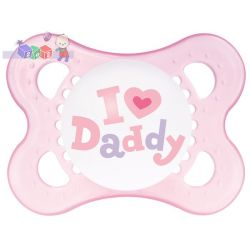 Smoczki Mam - Love and Affection 2-6 m - z napisami I Love Mommy, I Love Daddy...