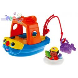Małe pojazdy Fisher Price - pływająca łódka z figurką...