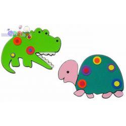 Piankowe ozdobne dekoracje na ścianę - krokodyl i żółw...