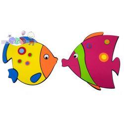 Piankowe ozdobne dekoracje ścienne - 2 rybki...