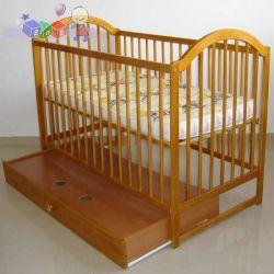 Łóżeczka dziecięce drewniane z wyjmowanymi szczeblami Tomi III...
