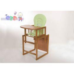 Krzesełko do karmienia rozkładane stolik + krzesełko Konrad 4 teak...