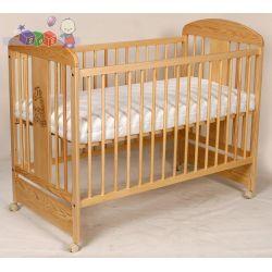 Solidne łóżeczko dziecięce z drewna sosnowego Tomi XII...
