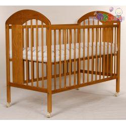 Zdobione łóżeczko z drewna sosnowego Tomi XIII...