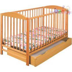 Łóżeczko drewniane dla dzieci 120x60 Radek II Klupś z szufladą...