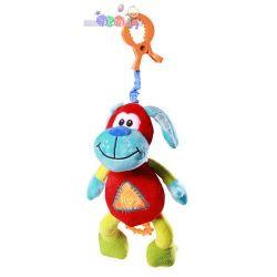 Babyono wibrująca zabawka z dźwiękiem - śmiejący piesek 35 cm...