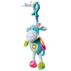 Babyono wibrująca zabawka z dźwiękiem - śmiejąca krówka 35 cm...