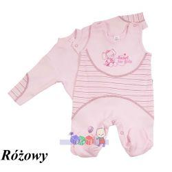 Komplecik niemowlęcy kaftanik i śpioszki z bawełny 100% rozmiar 56...