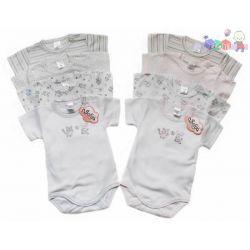 4-pak body niemowlęcych z kr. rękawkiem Piegusek Sofija rozmiar 62...