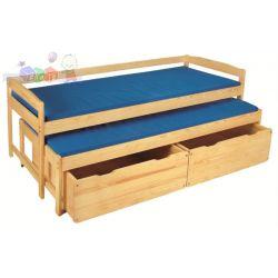 Łóżko podwójne Marta z szufladami i miateracami Klupś sosna...