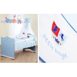 Pościel do łóżeczka dla dzieci 135 x 100 Klupś + haft...