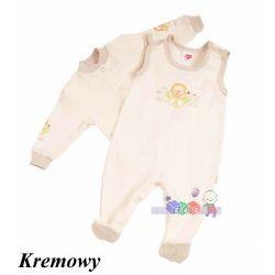 Komplecik niemowlęcy kaftanik i śpioszki w pastelowych kolorach rozm 56...