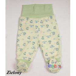 Drukowane bawełniane półśpioszki niemowlęce rozmiar 74...