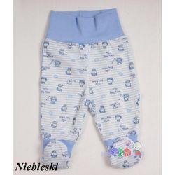 Drukowane bawełniane półśpioszki dla niemowląt rozmiar 86...
